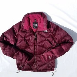 North Face Down Coat Cranberry  Small
